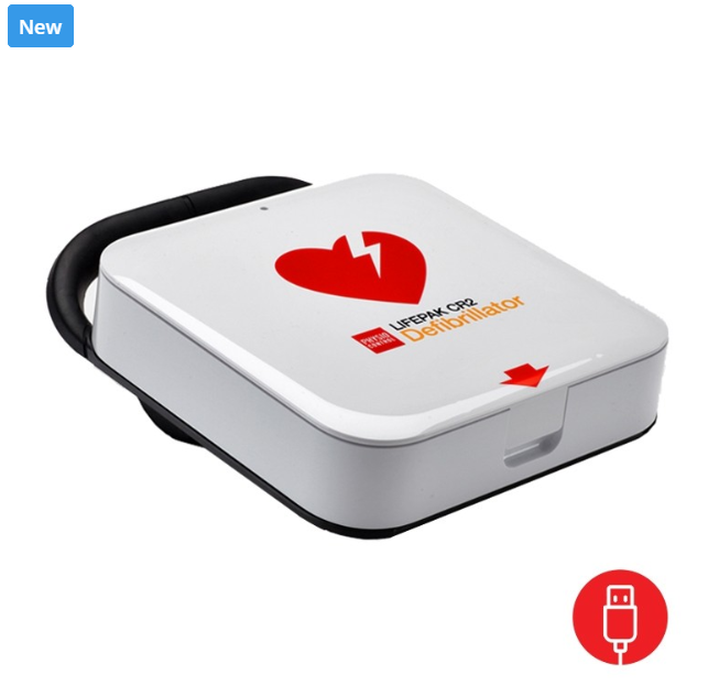 The new Lifepak CR 2 essentail defibrillator